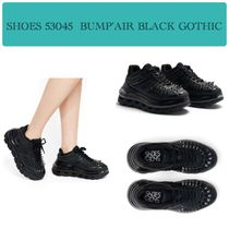 SHOES 53045 Unisex Faux Fur Studded Street Style Plain Sneakers