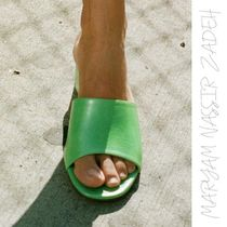 MARYAM NASSIR ZADEH Open Toe Street Style Plain Leather Home Party Ideas