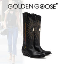 Golden Goose Star Mountain Boots Casual Style Leather Outdoor Boots
