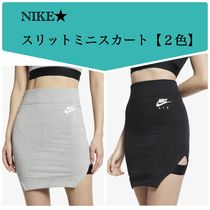 Nike AIR MAX Pencil Skirts Short Street Style Plain Cotton Skirts