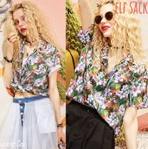 ELF SACK Flower Patterns Tropical Patterns Casual Style Chiffon