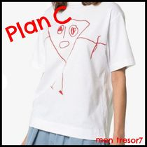 Plan C Crew Neck Short Cotton Short Sleeves Cropped