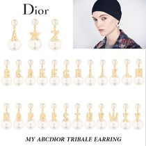 Christian Dior Unisex Blended Fabrics Street Style Earrings & Piercings