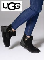 UGG Australia Casual Style Plain Leather Flat Boots