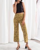& Other Stories Casual Style Long Khaki Cropped & Capris Pants