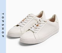 TOPSHOP Casual Style Faux Fur Low-Top Sneakers