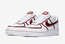 Nike AIR FORCE 1 Unisex Blended Fabrics Street Style Leather Sneakers