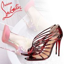 Christian Louboutin Open Toe Other Animal Patterns Leather Pin Heels