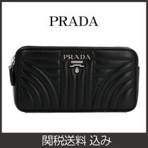 PRADA DIAGRAMME Leather Shoulder Bags