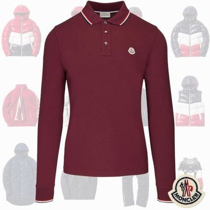 28c9f7a09 MONCLER Pullovers Long Sleeves Cotton Bold Polos
