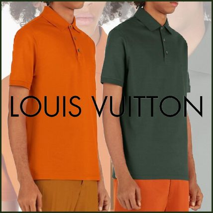 Louis Vuitton Polos Blended Fabrics Street Style Polos