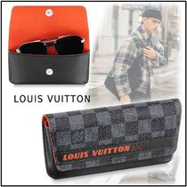 Louis Vuitton 2019-20AW WOODY GLASSES CASE LV RACE orange one size eyewear