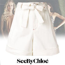 See by Chloe Short Casual Style Plain Cotton Denim & Cotton Shorts