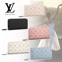 Louis Vuitton Leather Logo Long Wallets