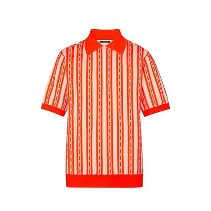 Louis Vuitton Polos Stripes Blended Fabrics Street Style Bi-color Cotton 2