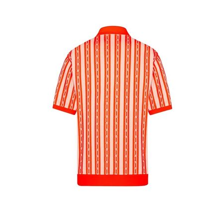 Louis Vuitton Polos Stripes Blended Fabrics Street Style Bi-color Cotton 4