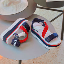 Tommy Hilfiger Open Toe Platform Casual Style Street Style Plain