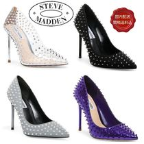 Steve Madden Studded Pin Heels Elegant Style Pointed Toe Pumps & Mules