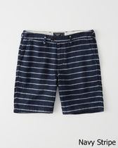 Abercrombie & Fitch Stripes Linen Shorts