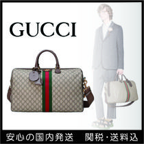 GUCCI Unisex 2WAY Leather Boston Bags