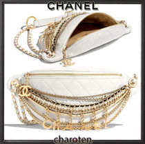 CHANEL ICON Lambskin 3WAY Bi-color Chain Plain Elegant Style