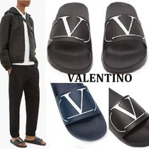 VALENTINO Unisex Street Style Plain Shower Shoes Shower Sandals