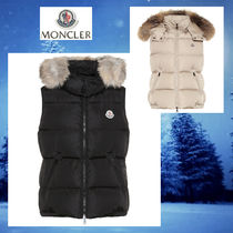 MONCLER Fur Medium Down Jackets