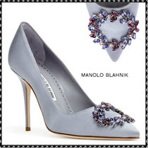 Manolo Blahnik Hangisi Studded High Heel Pumps & Mules
