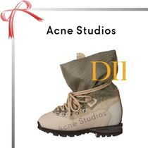 Acne Mountain Boots Casual Style Plain Outdoor Boots