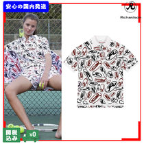 RICHARDSON Tropical Patterns Casual Style Unisex Street Style Cotton