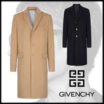 GIVENCHY Cashmere Plain Long Chester Coats