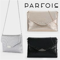 PARFOIS 2WAY Chain Plain Party Style Crossbody Party Bags