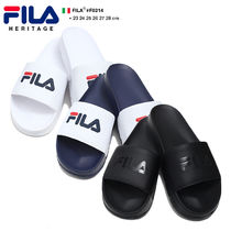FILA Unisex Faux Fur Blended Fabrics Street Style Shower Shoes
