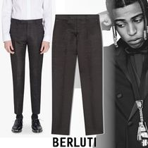 Berluti ALESSANDRO Tapered Pants Wool Tapered Pants