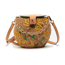 FRANCIS VALENTINE Flower Patterns Casual Style Plain Crossbody Shoulder Bags