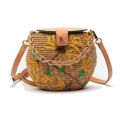 Flower Patterns Casual Style Plain Crossbody Shoulder Bags