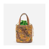 FRANCIS VALENTINE Flower Patterns Casual Style Shoulder Bags