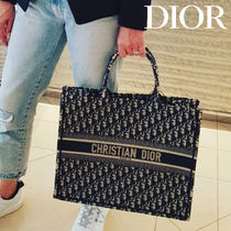 Christian Dior Monogram Unisex Canvas A4 2WAY Totes