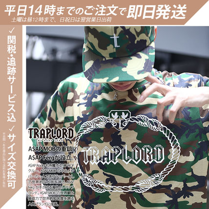 Pullovers Camouflage Street Style Short Sleeves Oversized