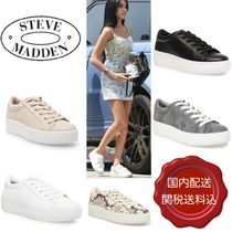 Steve Madden Leopard Patterns Platform Round Toe Lace-up Casual Style