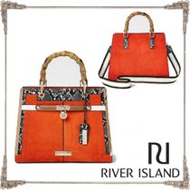 River Island Faux Fur 2WAY Totes