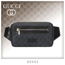 GUCCI GG Supreme Unisex Canvas Street Style Hip Packs
