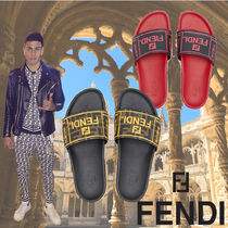 FENDI Blended Fabrics Leather Shower Shoes Shower Sandals
