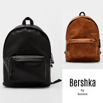 Bershka Faux Fur Plain Backpacks
