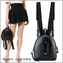 MARC JACOBS Snapshot Casual Style Saffiano Plain Backpacks
