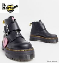 Dr Martens Heart Platform Round Toe Casual Style Street Style