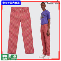 MARTINE ROSE Stripes Unisex Street Style Plain Cotton Jeans & Denim