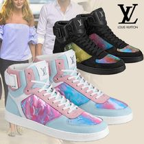 Louis Vuitton Blended Fabrics Street Style Plain Leather Handmade Sneakers