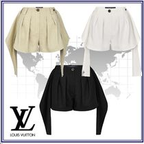 Louis Vuitton Short Linen Plain Elegant Style Shorts
