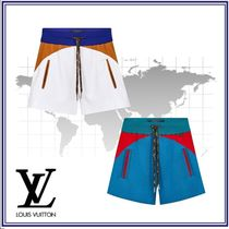 Louis Vuitton Short Plain Cotton Elegant Style Denim & Cotton Shorts